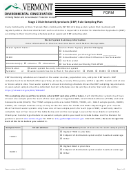"""""""Stage 2 Disinfectant Byproducts (Dbp) Rule Sampling Plan"""" - Vermont"""