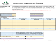 """Form ADM-200-30 """"Department Provided Food & Refreshment Pre-approval Form"""" - Vermont"""