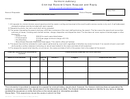 "Form 200-00331 ""Criminal Record Check Request and Reply"" - Vermont"