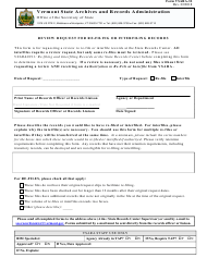 "Form Vsara-32 ""Request to Re-file or Interfile Records"" - Vermont"