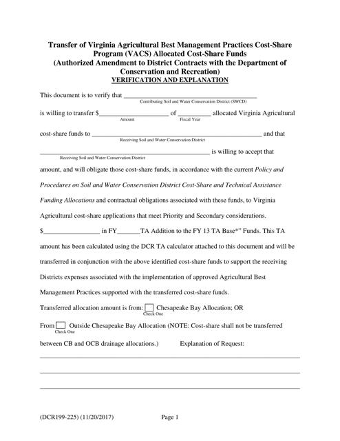 Form DCR199-225 Printable Pdf