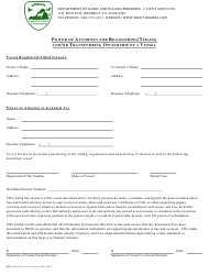 "Form BRT-016 ""Power of Attorney for Registering/Titling and/or Transferring Ownership of a Vessel"" - Virginia"