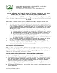 "Form BRT-025 ""Affidavit of Compliance for Enforcement of Virginia's Self-service Storage Act"" - Virginia"