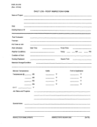 """Form DGS-30-352 """"Daily Log - Roof Inspection Form"""" - Virginia"""