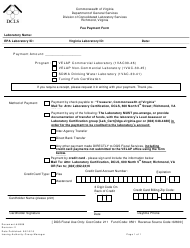 """Form 6988 """"Fee Payment Form"""" - Virginia"""