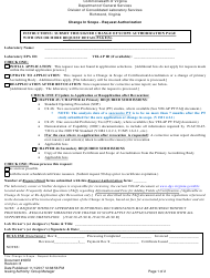 """Form 6972 """"Change in Scope - Request Authorization"""" - Virginia"""