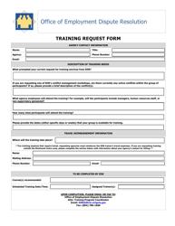 """""""Training Request Form"""" - Virginia"""