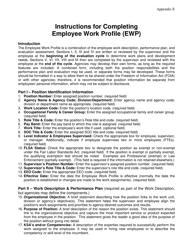 "Instructions for Appendix E ""Employee Work Profile (Ewp)"" - Virginia"