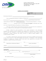 "Form DMM-169 ""Certificate of Deposit"" - Virginia"