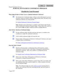 """Checklist for Court Personnel"" - Virginia"