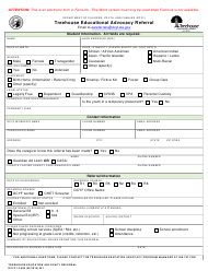 DCYF Form 10-460 Treehouse Educational Advocacy Referral - Washington