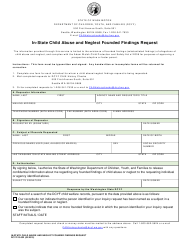DCYF Form 23-032 In-state Child Abuse and Neglect Founded Findings Request - Washington