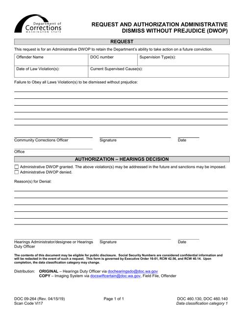 Form DOC09-264  Printable Pdf