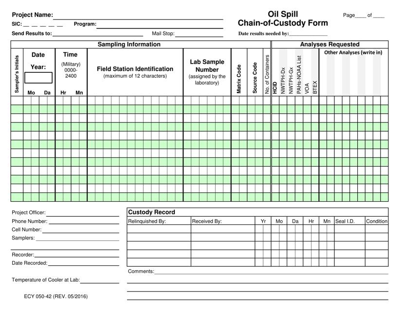 Form 050-42  Printable Pdf