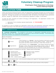 "Form ECY020-74 ""Voluntary Cleanup Program Application Form"" - Washington"