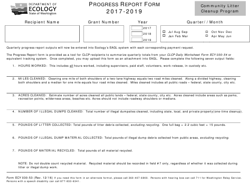 Form ECY030-53 2019 Printable Pdf