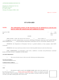 """Standard Real Estate Lease Agreement Template"" - Washington"