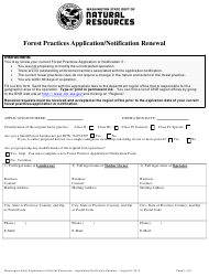 """""""Forest Practices Application/Notification Renewal"""" - Washington"""