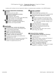 """""""Fphp Applicant Checklist - Temporary Structure in Type S or F Water"""" - Washington"""