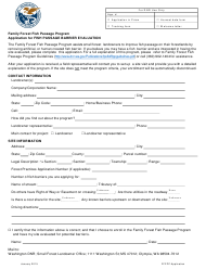 """Family Forest Fish Passage Program Application for Fish Passage Barrier Evaluation"" - Washington"