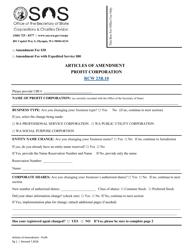 """Articles of Amendment - Profit Corporation"" - Washington"