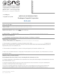 """Articles of Dissolution - Washington Nonprofit Corporation"" - Washington"