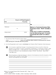 "Form XR161 ""Motion to Terminate Extreme Risk Protection Order - Rcw 7.94.080(1)"" - Washington"