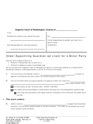 "Form FL All Family147 ""Order Appointing Guardian Ad Litem for a Minor Party"" - Washington"