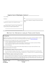 "Form FL Visits481 ""Motion for Advance Lawyer Fees and Costs"" - Washington"
