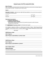 """""""4-h & Ffa Livestock Bill of Sale"""" - Owyhee County, Idaho"""