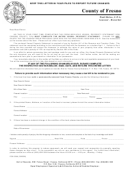 "Form FCA3169 ""Boat Sold or Moved"" - County of Fresno, California"