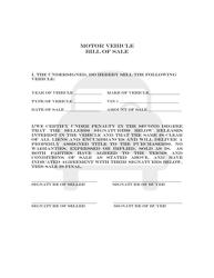 """""""Motor Vehicle Bill of Sale"""" - Colorado"""