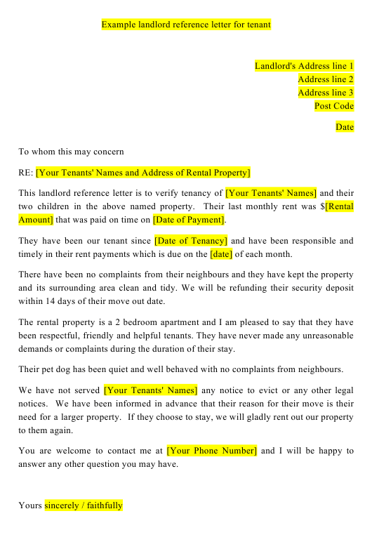 Reference Letter For Apartment Rental from data.templateroller.com