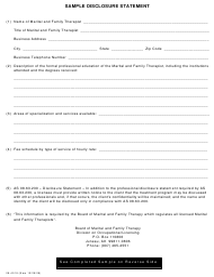 "Form 08-4518 ""Disclosure Statement"" - Alaska"