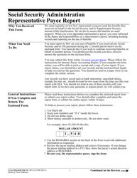 """Form SSA-623-F6 """"Representative Payee Report"""""""