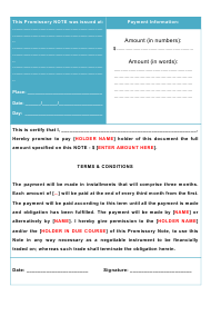 """Promissory Note Template"""