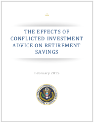 """""""The Effects of Conflicted Investment Advice on Retirement Savings"""""""