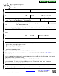 "Form 5049 ""Notice of Sale or Transfer"" - Missouri"