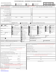 "DNR Form B-240 ""Boat Registration Form"" - Maryland"