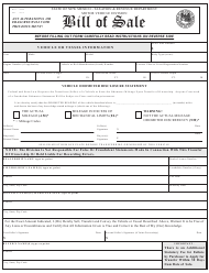 "Form MVD-10009 ""Bill of Sale for Vehicle or Vessel"" - New Mexico"