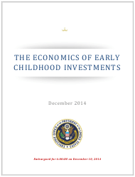 """""""The Economics of Early Childhood Investments"""""""