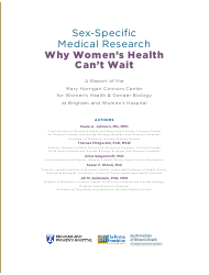 """Sex-Specific Medical Research: Why Women's Health Can't Wait - Mary Horrigan Connors Center for Women's Health & Gender Biology"", Page 3"