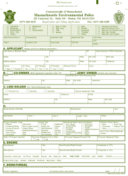 "Form ELE#1 ""Registration and Titling Application"" - Massachusetts"