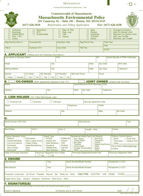 Form ELE#1  Printable Pdf