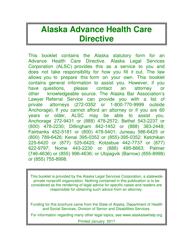 """Advance Directive for Health Care"" - Alaska"