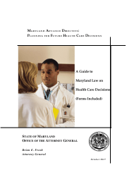 """""""Advance Directive for Health Care"""" - Maryland"""