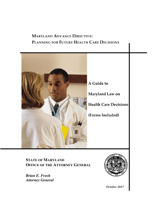 """Advance Directive for Health Care"" - Maryland Download Pdf"