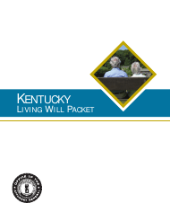 """Kentucky Living Will Packet"" - Kentucky"