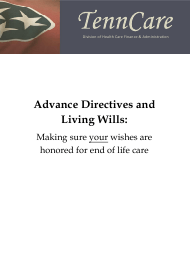 """Tennessee Advance Directives and Living Wills Booklet"" - Tennessee"