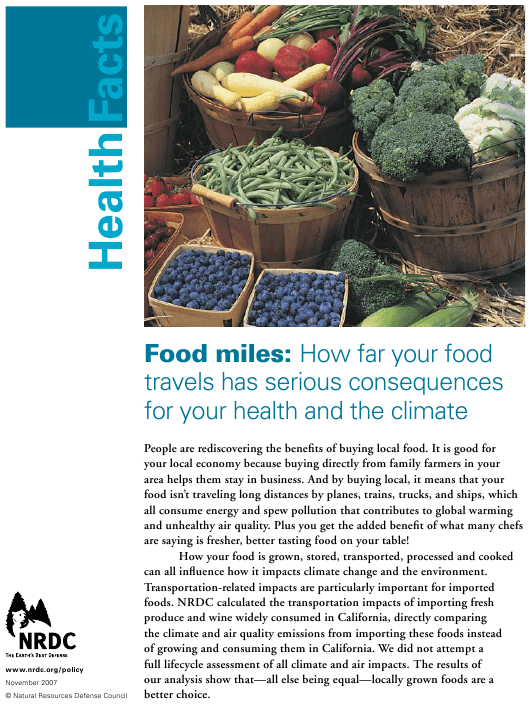 Food Miles: How Far Your Food Travels Has Serious Consequences for Your Health and the Climate - Natural Resources Defense Council Download Pdf